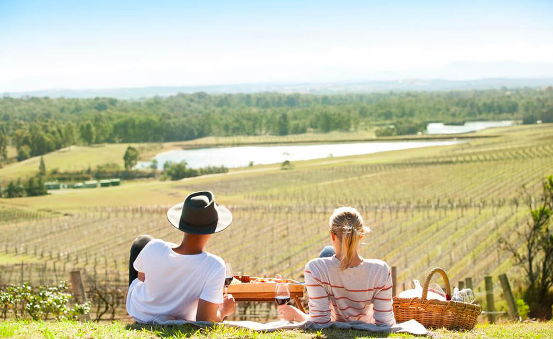 Take in the view at Audrey Wilkinson winery