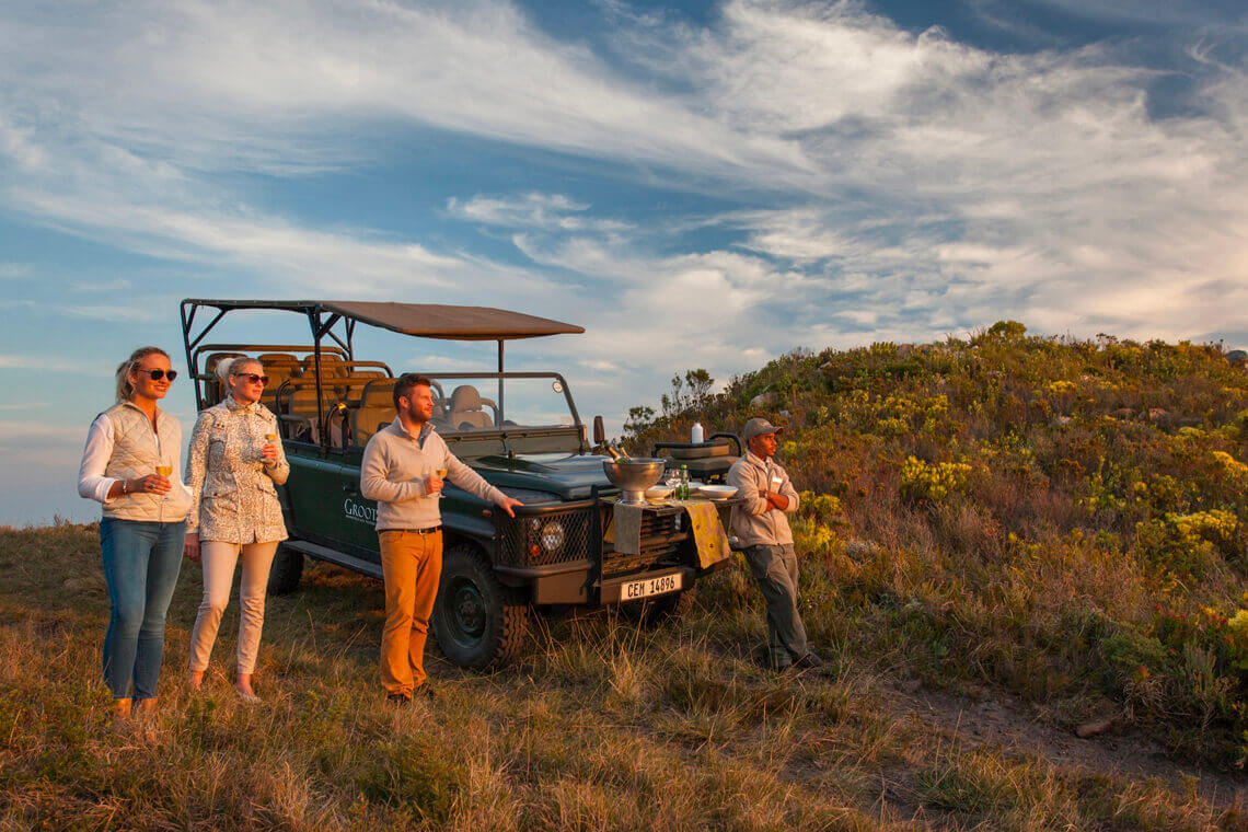 "A sunset safari experience at Grootbos, one of ""The Most unique Wine Lodges of the World""."