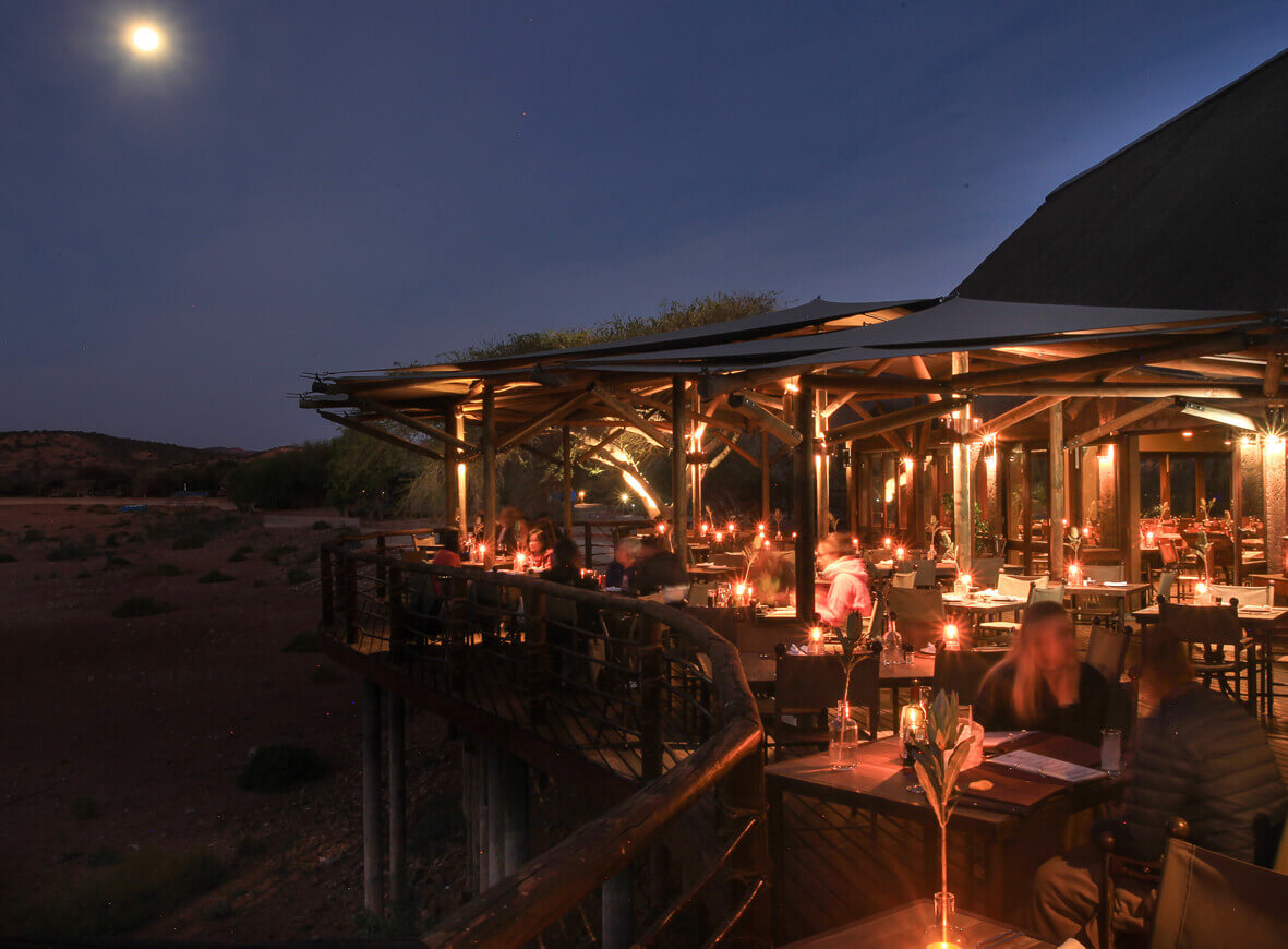 A magical dinner experience on the deck