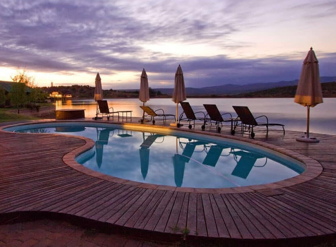 Relax by the pool after a day of game viewing | photo courtesy of Buffelsdrift